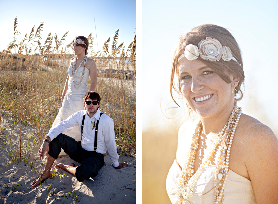 Styled Bohemian Beach Shoot Tybee Island Wedding